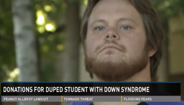 Donations help student with Down syndrome who was scammed