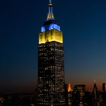 Empire State Lights Up