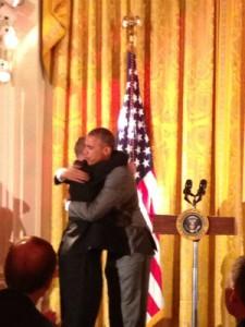 sTim Harris shares a presidential hug2