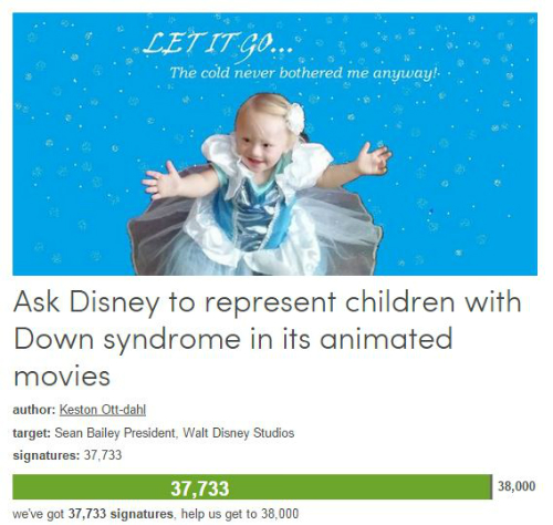 s_Ask Disney to represent children with DS